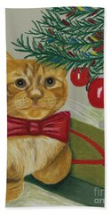 Christmas With Rufus Hand Towel
