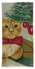 Christmas With Rufus Bath Towel