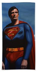 Christopher Reeve As Superman Hand Towel