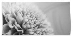Chrysanthemum In Black And White Hand Towel