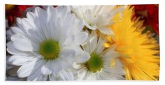 Chrysanthemum Punch Bath Towel by Cathy  Beharriell
