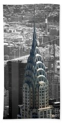 Hand Towel featuring the photograph Chrysler Building by Angela DeFrias