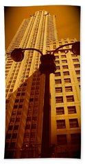 Rockefeller Building In Manhattan Hand Towel