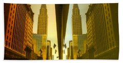Chrysler Reflection On 42nd Street Bath Towel