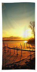 Chtistmas Dock 1 Bath Towel