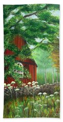 Church In The Glen Hand Towel by Laurie Morgan