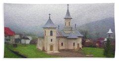 Church In The Mist Hand Towel