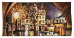 Cieszyn At Night Bath Towel
