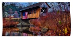 Cilleyville Covered Bridge Bath Towel by Jeff Folger