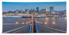Cincinnati From On Top Of The Bridge Hand Towel