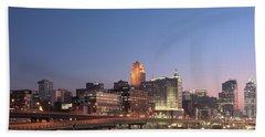 Cincinnati In Morning Twilight Hand Towel