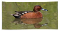 Cinnamon Teal Hand Towel by Doug Herr