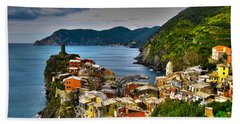 Cinque Terra Bath Towel by David Gleeson
