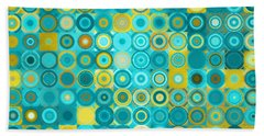 Circles And Squares 6. Modern Home Decor Art Bath Towel