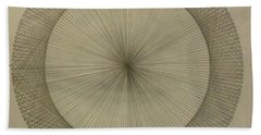 Bath Towel featuring the drawing Circles Don't Exist Two Degree Frequency by Jason Padgett