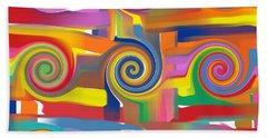 Circles Of Life Hand Towel by Alec Drake