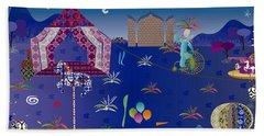 Circus Hand Towel by Gabriela Delgado