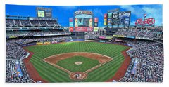 Citi Field Hand Towel by Allen Beatty