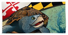 Citizen Terrapin Maryland's Turtle Hand Towel by Joe Barsin