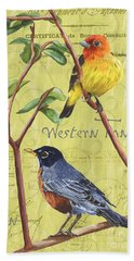 Citron Songbirds 2 Hand Towel