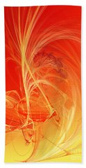 Bath Towel featuring the digital art Citrus Infusion by Andee Design