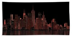 Chicago City Dusk Hand Towel