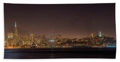 City Lights San Francisco California Bath Towel by James Hammond