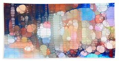 City Lights Urban Abstract Hand Towel