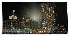 City Never Sleeps Bath Towel by Manjot Singh Sachdeva