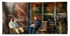 City - New York - Greenwich Village - The Path Cafe  Hand Towel