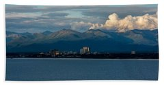 City Of Anchorage  Bath Towel by Andrew Matwijec
