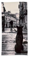 City Streets And The Theory Of Waiting Hand Towel