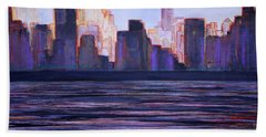 City Sunset Hand Towel