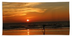 Clam Digging At Sunset - 3 Hand Towel