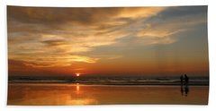 Clam Digging At Sunset - 4 Hand Towel