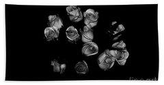 Classic Black Roses Bath Towel