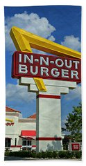 Classic Cali Burger 1.1 Hand Towel by Stephen Stookey