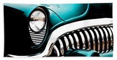 Hand Towel featuring the photograph Classic Turquoise Buick by Joann Copeland-Paul