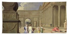 Classical Landscape Oil On Canvas Hand Towel