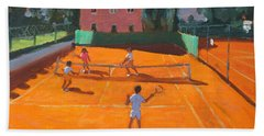 Clay Court Tennis Hand Towel by Andrew Macara