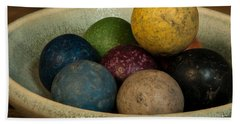 Clay Marbles In Bowl Hand Towel