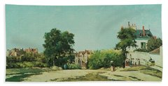 Clearing Of The Old Cemetery In Pontoise Hand Towel