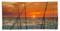 Clearwater Sunset 2 Hand Towel by Mike Ste Marie