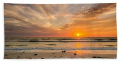 Clearwater Sunset Hand Towel by Mike Ste Marie
