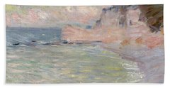 Cliffs And The Porte Damont, Morning Effect, 1885 Oil On Canvas Bath Towel