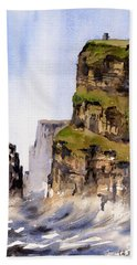 Clare   The Cliffs Of Moher   Hand Towel