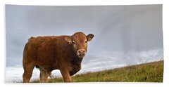 Cliffs Of Moher Brown Cow Bath Towel