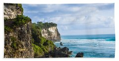Cliffs On The Indonesian Coastline Hand Towel
