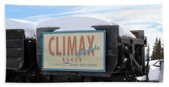 Hand Towel featuring the photograph Climax Colorado by Fiona Kennard