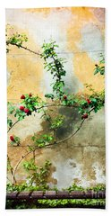 Bath Towel featuring the photograph Climbing Rose Plant by Silvia Ganora